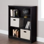 Black Oak 3 Shelf Bookcase – Morgan