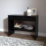 Black Oak Console Table with 2 Drawers – Flexible