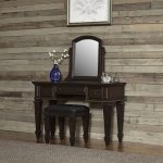 Black Oak Vanity and Bench – Prairie Home