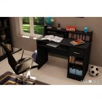 Black Small Desk with Keyboard Tray – Axess