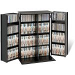 Black Small Locking Multimedia Storage Cabinet