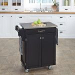 Black/Stainless Kitchen Cart