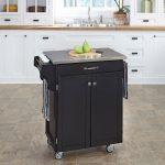 Black/Stainless Kitchen Cart