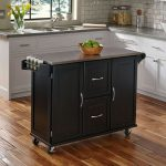 Black Stainless Top Kitchen Cart – Patriot