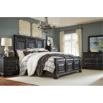 Black Traditional 6-Piece King Bedroom Set – Passages