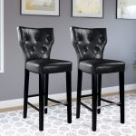 Black Transitional Bar Stool (Set of 2)