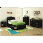 Black Twin Mates Bed with 3 Drawers (39 Inch) – Lazer