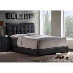 Black Upholstered King Platform Bed – Lusso