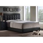 Black Upholstered Queen Size Bed – Lusso