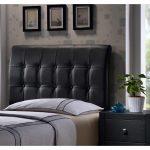 Black Upholstered Twin Headboard – Lusso
