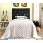 Black Upholstered Twin Headboard – Milton