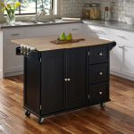 Black Wood Top Kitchen Cart – Liberty