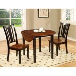 Black and Cherry 3-Piece Round Dining Set – Dover