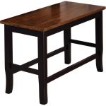 Black and Cherry Counter Dining Bench – Dover
