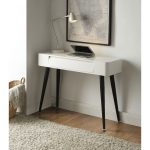 Black and Glossy White Desk