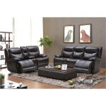 Blackberry Leather-Match Power Reclining Sofa & Loveseat – K-Motion