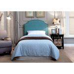 Blue Classic Upholstered Twin Headboard – Mira