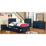 Blue Pull-out Trundle