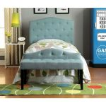 Blue Tufted Upholstered Twin Headboard – Venice