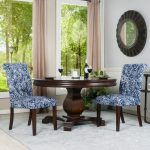 Blue and White Tufted Parsons Chairs (Set of 2) – Berkley