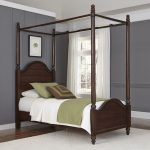 Bourbon Brown Twin Canopy Bed – Country Comfort