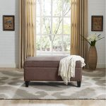 Bourbon Brown Upholstered Bench – Desmond