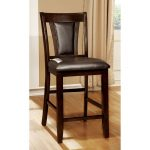 Brent Dark Cherry Traditional Counter Stool