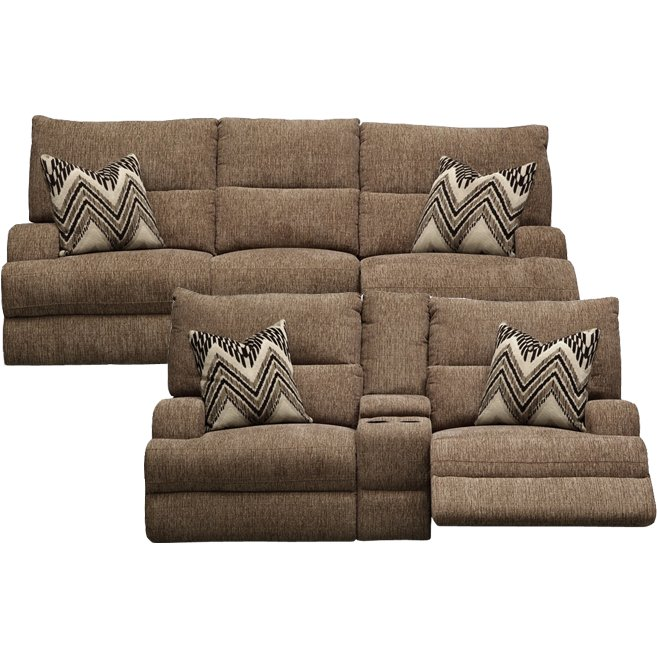 Swell Brindle Brown Power Reclining Sofa Loveseat Happy Creativecarmelina Interior Chair Design Creativecarmelinacom