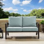 Bronze and Gray Outdoor Patio Loveseat – Kaplan