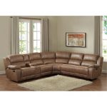 Brown 6-Piece Reclining Sectional – Charlotte
