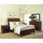 Brown Cherry Traditional 6 Piece Queen Bedroom Set – Cambridge