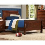Brown Cherry Traditional Twin Sleigh Bed – Mayville