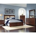 Brown Contemporary 6 Piece Upholstered King Bedroom Set – Diego