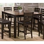 Brown Counter Height Dining Table – Elliott