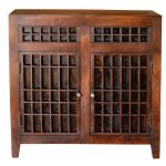 Brown Handmade 2-Door Cabinet