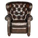 Brown Leather High Leg Recliner – James River