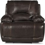 Brown Leather-Match Power Recliner