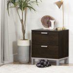 Brown Oak 2 Drawer Nightstand – Flexible