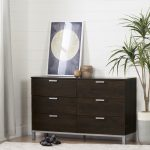 Brown Oak 6 Drawer Double Dresser – Flexible