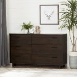 Brown Oak 6-Drawer Dresser – Fynn