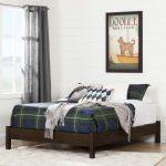 Brown Oak Full-Size Platform Bed – Fynn