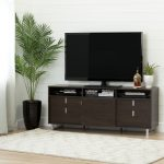 Brown Oak TV Stand for TVs up 60 Inch – Uber