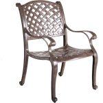 Brown Patio Arm Chair – Castle Rock