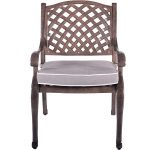 Brown Patio Chair and Cushion – Castle Rock
