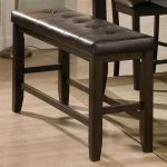 Brown Upholstered Counter Height Dining Bench – Elliott Collection