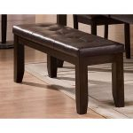 Brown Upholstered Dining Bench – Elliott Collection