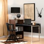 Brown Walnut and Pure Black Desk with Storage – Tasko