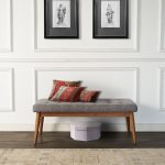 Brown and Gray Upholstered Bench – Landon