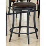 Brown and Metal 24 Inch Counter Stool – David Collection