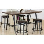 Brown and Metal Dining Table – David
